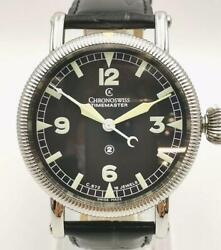 chronoswiss Ch6233 Time Master Menand039s Analog Watch Shipped From Japan