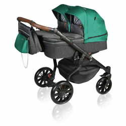 4in1 Stroller Dorjan Vivo Twin 2020 02 Forest Green Dorjan