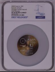 Ngc Pf70 2020 Cook Islands Sounds Of Earth -voyager Golden Record Silver Coin