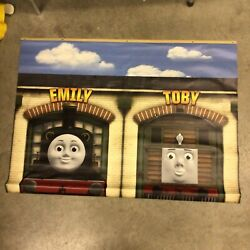 Thomas And Friends Toys R Us Display Vinyl Banner Emily And Toby 48x35 Bn21