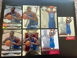7 Lot Joel Embiid 2014 Prizm Silver Phenoms Select Certified Rookie Rc Read