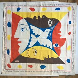 Picasso Rare Original Historical Scarf World Youth Festival Berlin August C1951