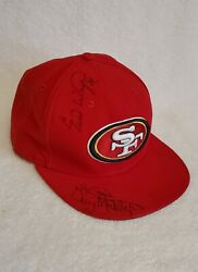 San Francisco 49ers Nfl New Era Cap Autographed Hat Signed By Players