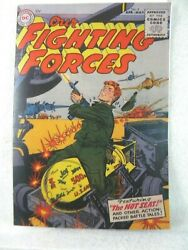 Our Fighting Forces 4 1955 Golden Age Dc Comics Coverless W/ Facsimile Cvr