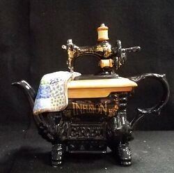 Paul Cardew Teapot The Quilted Sewing Machine Limited Edition Made In England