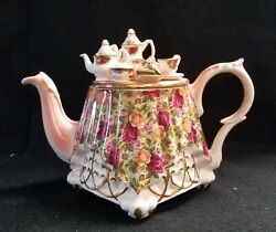 Royal Albert Old Country Roses Chintz Large Teapot By Paul Cardew
