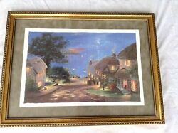 Andrew Warden Village By The Sea Seriolithograph Signed And Numbered 396/750 Le