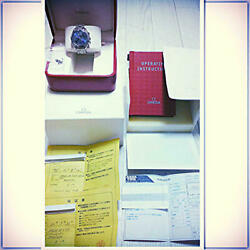 Omega Speedmaster Triple Calendar Automatic Menand039s Watch With Box Japan Shipped