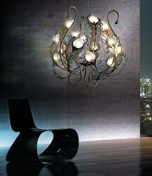 Suspended Lights Classic Metal And Glass Gold