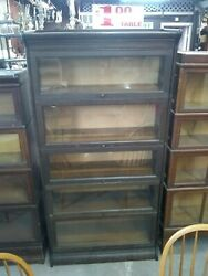 Antique 7 Piece Barrister Bookcase Overflow