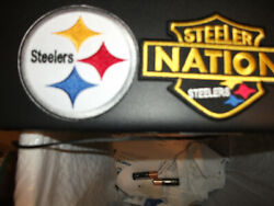 2- Pittsburgh Steelers Patches Embroidered New Iron/sew On Patch Lot 3 X 3