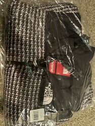 Supreme The Tnf Studded Nuptse Jacket Black Sz Small In Hand