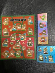 Sanrio Vintage 80s 1984 Fun Come Alive Bears Foil And Iridescent Stickers 3 Mods
