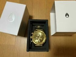 ​nixon 51-30 Chrono All Gold Stainless Digital Menand039s Watch Shipped From Japan