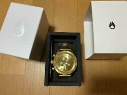nixon 51-30 Chrono All Gold Stainless Digital Menand039s Watch Shipped From Japan