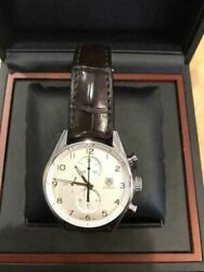 tag Heuer Carrera 1887 Leather Belt Chronograph Menand039s Analog Watch Japan