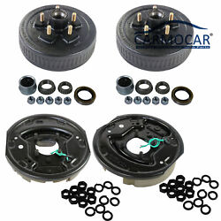 Trailer 5 On 4.5 Hub Drum Kits W/ 10x2-1/4 Electric Brakes For 3500 Lbs Axle