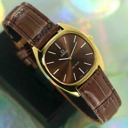 omega De Ville Cal.625 Manual Winding Gold Plated Stainless Steel Adult Watch