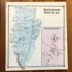 1873 Handcolored Street Map Buckeystown And Jefferson Frederick County Maryland