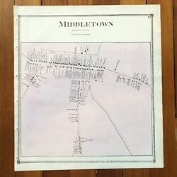 Best 1873 Handcolored Street Map Of Middletown In Frederick County Maryland Rare
