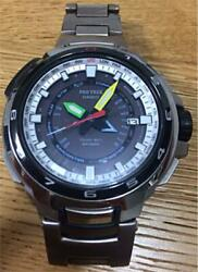Casio Pro Trek Pwx-8000t Menand039s Watch With Box Shipped From Japan
