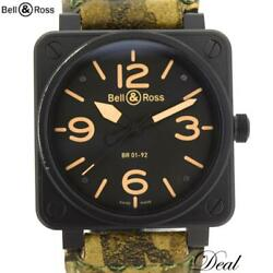 Bell And Ross Br01-92-s Aviation Heritage Self Winding Menand039s Watch Japan Shipped