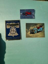 Lot Of 3 Delaware Valley Region King Of Prussia Club Car Show Dash Plaques