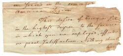 Letter From George Washington To Controversial Treasonous Gen. James Wilkinson