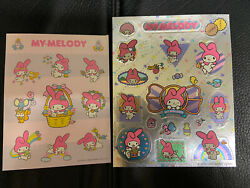 2 Vintage 80s 1984 Sanrio My Melody Foil And Sheet Stickers