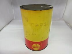 Vintage Advertising 5 Lb Shell Grease Can Garage Oil Gas S-244