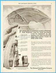 1912 Ncr National Cash Register Co Dayton Ohio Sales Record 5,932 Miles Long Ad