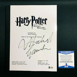 Michael Gambon Signed Harry Potter And The Deathly Hallows Part 2 Script W/ Coa