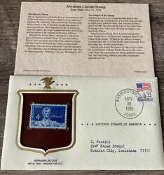 Abraham Lincoln 1959 Stamp 4c Historic Stamps America Commemorative Cover Mnh