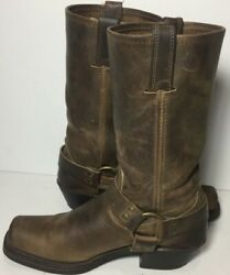 Fry Harness Leather Boots For Women Size 6 1/2 Color Brown