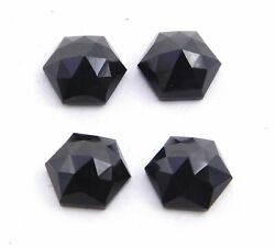Natural Black Onyx Hexagon Shape Rose Cut Size 16x16mm To 20x20mm Aaa Quality