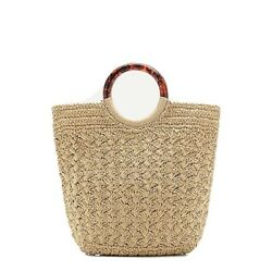 J Crew Woven Ring Handle Bag Tote Nwt 98