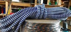 7/16andrdquo X 60 Ft Pre-cut Double Braid-yacht Braid Polyester Rope Hank.