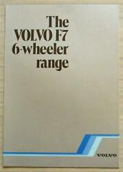 Volvo F7 Truck Commercial Vehicles Sales Brochure Aug 1981 Rsp F7/6