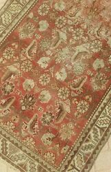 3'3x9'5 Antique.cr1900 Hand-knotted Kurdish Seneh Tribal Wool Muted Vg-dy Rug