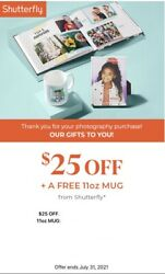 Shutterfly Coupons - 25 Off 25+ And Get 11 Oz Mug - Online 7/31/2021