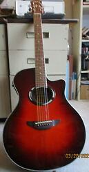 Yamaha Apx500 Drb Guitar, Thinline Acoustic Electric, With Bag, 4 Books, Cord