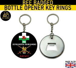 British Army Medical Services 203 Field Hospital Badge Key Ring Bottle Opener