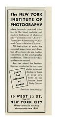 1939 The New York Institute Of Photography - Learn For A Career Vtg Print Ad