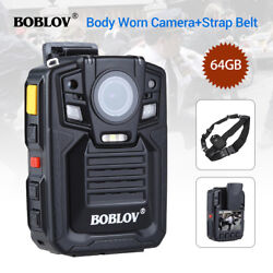 Body Worn Camera Night Vision Police Security Video 32mp + Sling Belt 1296p 64gb