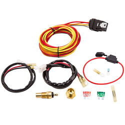 Dual Electric Cooling Fan Wiring Harness Thermostat Kit 165 Degrees 14 Inch
