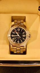 Breitling 1884 Colt Automatic Gmt Silver Stainless Steel Analog Wrist Watch