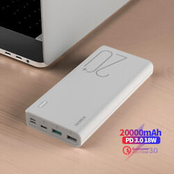 Romoss 20000mah Power Bank 3a Fast Charge 2-way Type-c Pd Qc3.0 Portable Charger