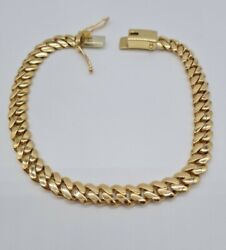 9ct Yellow Gold Cuban Bracelet - Fully Hallmarked - 8.5inches - 28.7 Grams