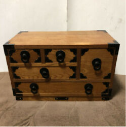 Japanese Wooden Drawers Sewing Box Antique Furniture