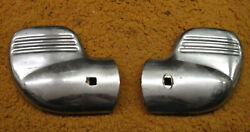 1940 Ford Car And Pickup - Pair Used Accessory Bumper End Guards - Wing Tips
